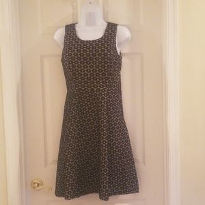 Black and taupe lace overlay dress size 4
